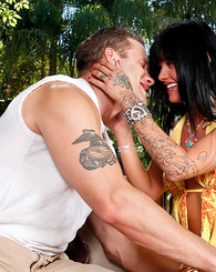 Sadie West rides Seth's dick like a hungry woman.