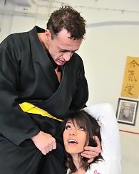 Norah Swan doing anal hardcore sex in the dojo